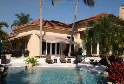 Beige Awning Pool Area St Lucie Martin Amp Broward County