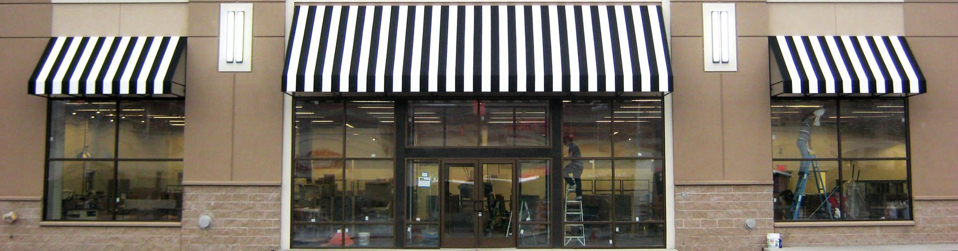 Palm Beach awnings for business buildings